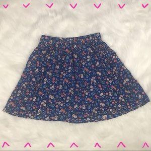 Hollister blue floral print stretchy skirt size S